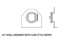 24' Shell Manway with Low Style Repad