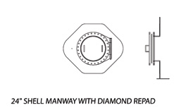 24' Shell Manway with Diamond Repad