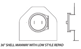 "36"" Shell Manway with Low Style Repad"
