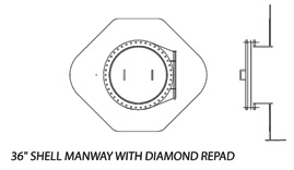 36shell Manway with Diamond Repad